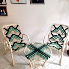 Set of Bambù Garden Chairs with Table