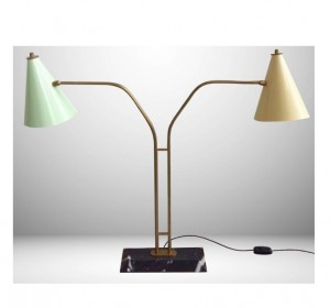 Italian desk lamp double light