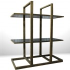 Italian Decorative  Brass Consolle-Library from the 60′s