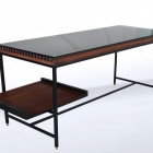 Italian Midcentury Desk in metal and wood