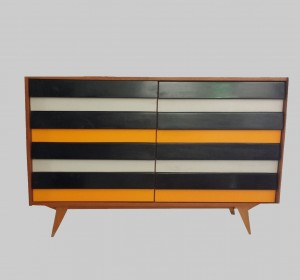 Trendy Black and yellow Sideboard from 1950/60