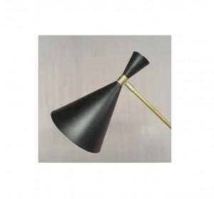 Italian Black cone  artigianal Floor Lamp in the manner of Stilnovo-New