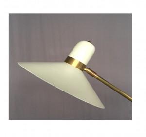 Italian  White Artigianal Floor lamp in the manner of Stilnovo-New