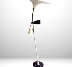 Italian  floor lamp in the manner of Stilnovo