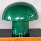 Italian ceramic Green table lamp from the 60′s