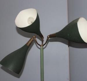 Italian  Midcentury Three cones Stilnovo Dark Green floor lamp