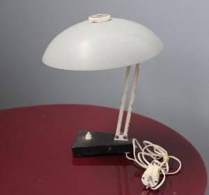 H.Th.J.A.Busquet  metal Grey desk lamp by Hala