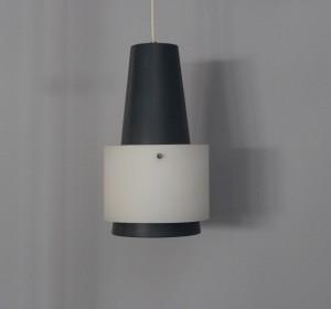 Metal & Glass  Louis Kalff bicolored ceiling lamp