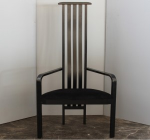 Black single Midcentury  chair by Vico Magistretti