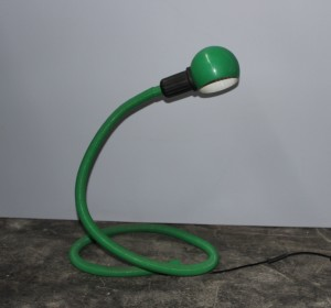Big green table lamp from the 70′s Isao Hosoe by Valenti Luce