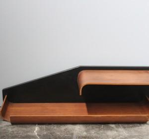 Midcentury Elegant  Italian Rosewood  shelf