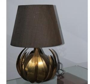 Table  brass lamp by Maison Jansen,1970