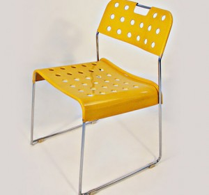 Set of four of  Omstak yellow chairs