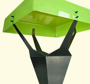 Bright green italian lamp
