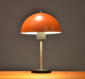 Orange modernist table lamp 1950