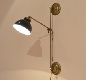 Industrial wall mounted arm lamp mid-century