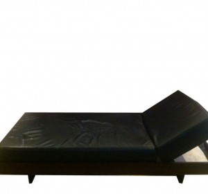 Day bed in black leather
