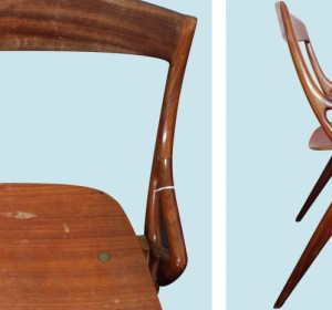 Small Italian chair from the 50′s
