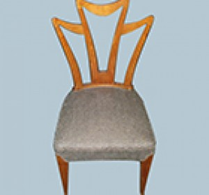 In the manner of Gio' Ponti Italian chairs