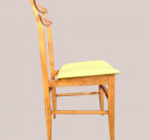 Couple of Apple Green italian chairs from the 50′s