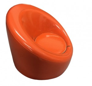Trendy Zanotta   Orange armchair from 70′s