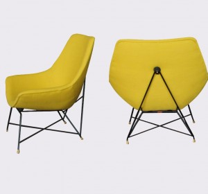 Augusto Bozzi  Lounge Chairs by Saporiti ,1958 Italy
