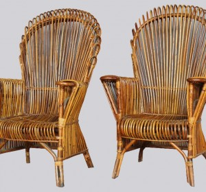 Italian Bamboo Garden Armchairs from the 60′s