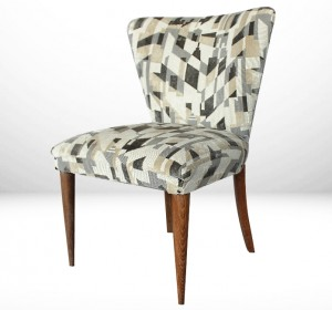 Italian Midcentury Small glamour armchair