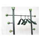 Fabulous Italian  Industriel Coat Rack with leather details