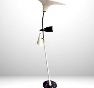 Italian  floor lamp in the manner of Stilnovo