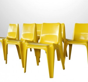 BA1171 SIDE CHAIRS BY HELMUT BATZWER FOR BOFINGER