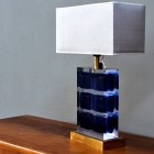 Italian Elegant Plexiglass table lamp from the 80′s