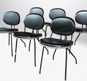 Italian set of chairs marked MIM ROMA