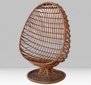 Rattan  Italian Egg chair from the 60′s