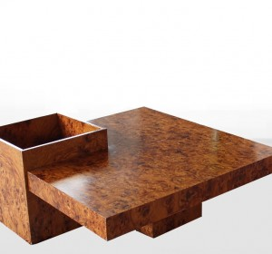 Italian coffee table in walnut by Aldo Tura