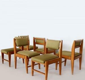 Set of Italian Midcentury Vittorio Dassi chairs