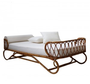 Rattan Italian Midcentury  Day Bed