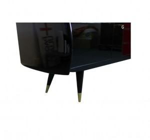 Italian midcentury black laquered sideboard