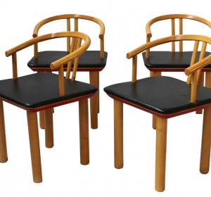 Italian  glamour set of chairs from the 70′s