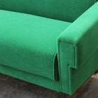Italian Midcentury  stunning Emerald Green sofà
