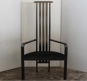 Black single Midcentury  chair by Vico Magistretti