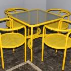 Locus Solus, garden yellow set by Gas Aulenti-1964 Poltronova