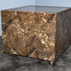 Italian marble cube in Rasotica marble from the 70′s