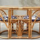 Italian  midcentury Garden set in bamboo