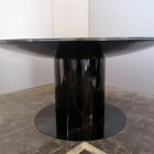 Italian Round black lacquered round table ,1970