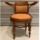 Italian midcentury wood armchair,1950