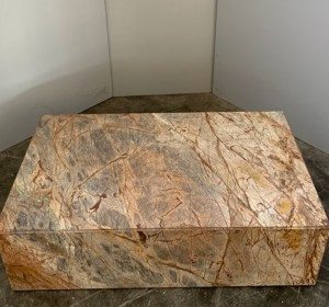 Italian marble Forest Green coffee table,1990